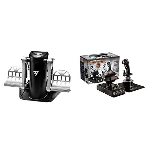 Thrustmaster TPR -Pendular Rudder – Experten-Steuerrudersystem für Flugsimulationen am PC & Hotas Warthog - Joystick-Repliken-Set mit doppeltem Gashebelsystem und doppelter Gashebel