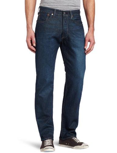 Levi's 501 Herren Jeans, schrumpfform, gerades Bein - Blau - 31W / 32L