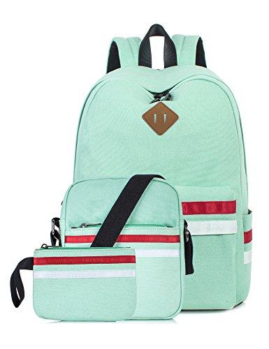 Leaper scuola zaino borsa a tracolla matita borsa 3pcs set acqua blu [8023]