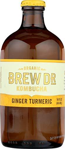 Brew Dr. Kombucha Ginger Turmeric, 14 Oz (Pack Of 12)