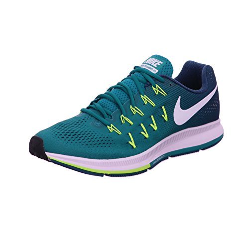 Nike Air Zoom Pegasus 33 - Scarpe da Ginnastica Uomo, Verde, 45.5