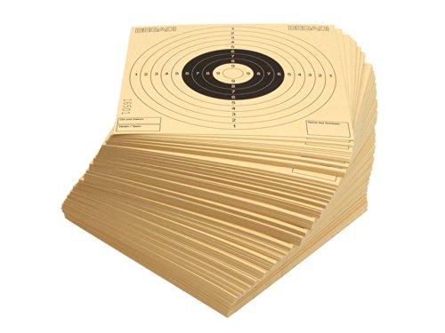 BEGADI 250 Qualitäts- Zielscheiben 14x14cm, mit Zusatzfeldern (Made in Germany)