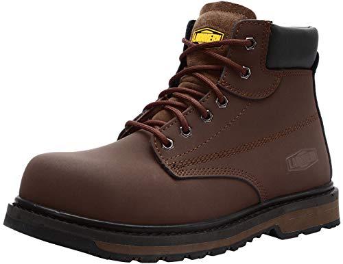 LARNMERN Zapato de Seguridad S3 SRC, con Tapa de Acero con Suela Antideslizante Caucho,...