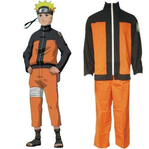 LACKINGONE Naruto Shippuden Naruto Cosplay Kostüm Mantel und Hose (M)