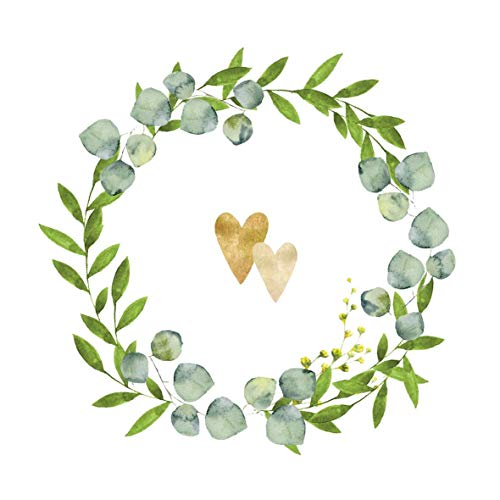 20 Servietten Goldene Herzen im Kranz | Hochzeit | Tischdeko 33x33cm