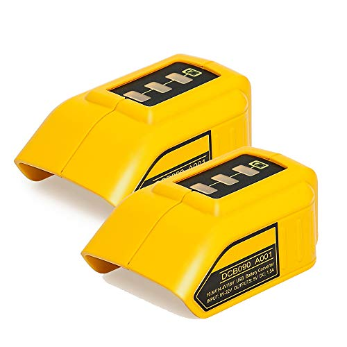 Battery Adapter (2-Pack) Compatible with Dewalt 12V/20V Lithium Ion...