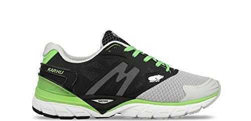 Karhu - Zapatillas de running de tela para hombre JET BLACK / LUNAR ROCK Size: 44.5