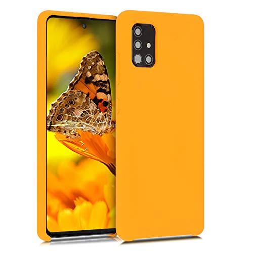 kwmobile Custodia Compatibile con Samsung Galaxy A51 - Cover in Silicone TPU - Back Case per Smartphone - Protezione Gommata Giallo Zafferano