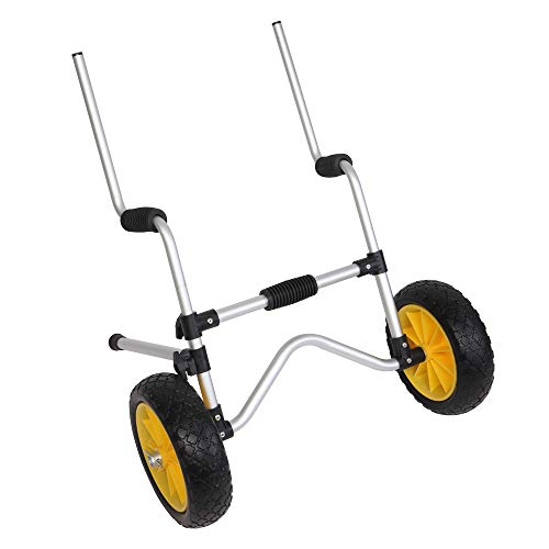 Bonnlo Scupper Kayak Trolley, Sit on Top Kayak Cart Dolly Carrier with...