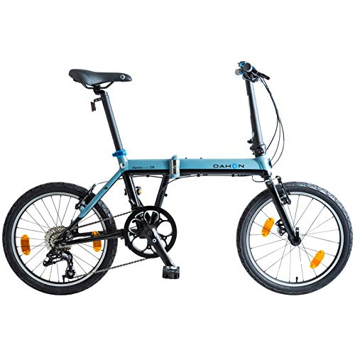 Dahon Faltrad Hemingway D9 9 Gang 20 Zoll Fahrrad Klappfahrrad Shimano Kettenschaltung Felgenbremsen, DH-HW-20, Farbe Blau Schwarz