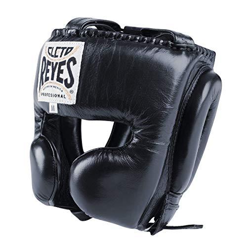 Cleto Reyes Kopfschutz Kopfschutz mit Wange Schutz Schwarz Elite Pro von minotaurfightstore, Large