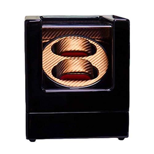 Caja enrolladora de Reloj Doble automática Luz LED incorporada Pintura de Piano Exterior Fuente de alimentación Dual Motor silencioso Clásico