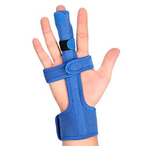 BKMWL Einstellbare Trigger-Fingerschiene mit Stahl Korrektor Handgelenkstütze Unterstützung Wegfahrsperre Behandlung für Verstauchungen Schmerzlinderung Verletzungen