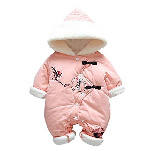Longra baby-overall van katoen, winddicht, met pluggen voor de winter, elegante Chinese stijl, pak, dik, houdt warm