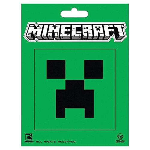 JINX Minecraft Creeper Face Sticker, Multi-Colored, 2 Multi-Size Stickers