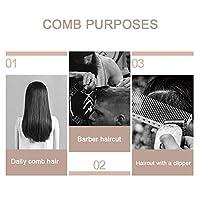 理髪コーム、高温耐性ヘアカットコーム、プロ用の滑り止め個人用(黒)