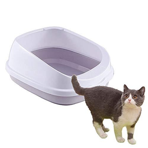 wersdf Arenero Gatos Arena Gatos Bandeja para Caja de Arena para Baño Gatito Accesorios Gato Baño Bandeja de Arena para Gatos pequeña Anti-Splash Orinal Gray