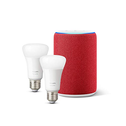 Amazon Echo (3ème génération), Édition (RED) + Philips Hue White Pack de...
