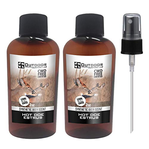 Outdoor Hunting Lab Doe in Estrus Heat Synthetic Urine - Deer Attractant Scent Buck Lure for Whitetail Deer Hunting