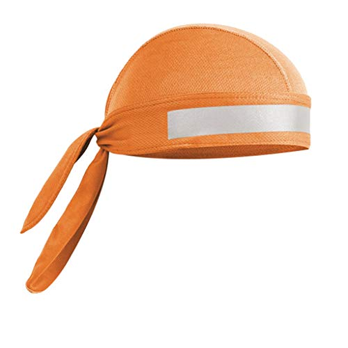 F Fityle Cappello a Bandana da Ciclismo Antivento Cappello da Bici da Esterno Cappuccio con Cappuccio - Arancia, Come descritto