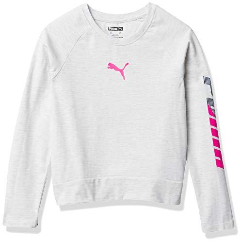 PUMA Girls' Longsleeve T-Shirt, White, XL