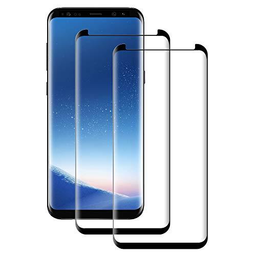 POOPHUNS Pellicola Vetro Temperato Compatibile con Samsung Galaxy S8 Plus, S8 Plus Protezione Schermo 3D Copertura Completa Trasparente Ultra Resistente, Anti-Graffi, Anti-Impronte (2 Pezzi)