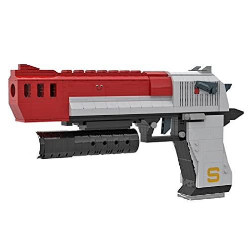 KEAYO Modelo de pistola técnica Desert Eagle, bloques de construcción personalizados de titanio, águila MOC, juego de construcción compatible con pistolas Lego.