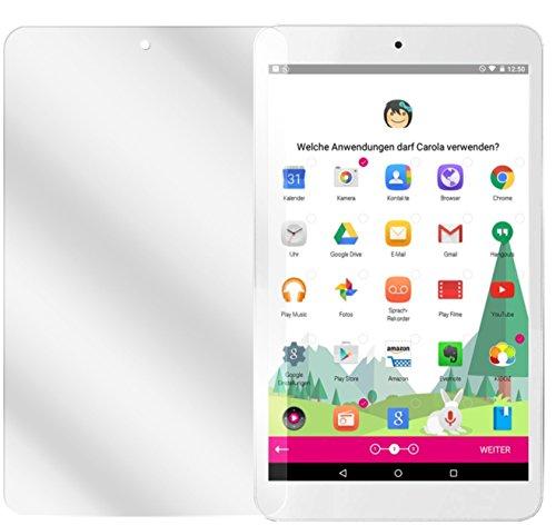 dipos I 2X Schutzfolie klar kompatibel mit Telekom Tablet Puls Folie Bildschirmschutzfolie