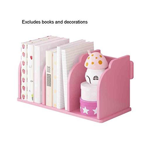 Kinderen boekensteunen van hout kunststof kantoormateriaal Dibond studentenwohnheim boekenkast bureau-magazijn kleur roze plank 15,74 × 8,26 × 8,26 × 8,26 × 8,26 × 8,26