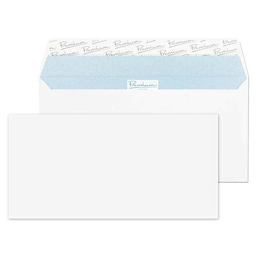 Premium Office 32213 Briefumschläge Haftklebung Ultra Weiß Wove DL 110 x 220 mm 120g/m² | 25 Stück