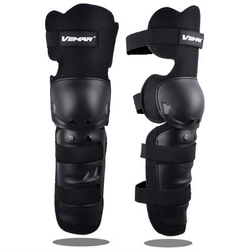 SANON Stainless Steel Adults Knee Pad,Knee Pads Shin Guard Protective Armor Set for Racing Motocross Bicycle