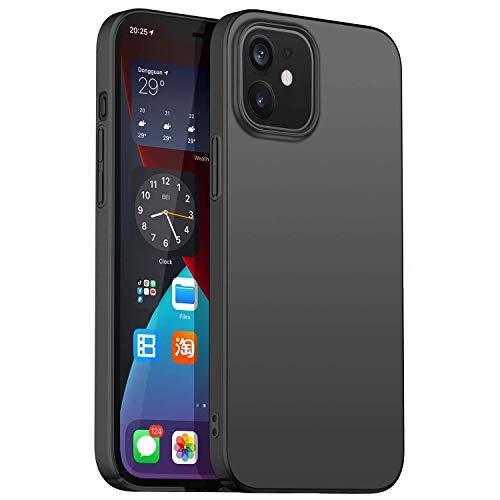 Arktis Hardcase, UltraSlim Hülle kompatibel mit iPhone 12 Mini [kabelloses Laden] Schutzhülle Polycarbonat Hülle schwarz