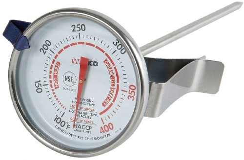 Winco 2-Inch Dial Deep Fry/Candy Thermometer with 5-Inch Probe