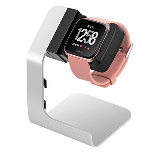 Fitbit Versa Compatible Charging Stand- Tranesca Charging Stand/Charging Dock/Charging Cradle for Fitbit Versa/Versa Lite with 6ft Charging Cable Integrated -Not for Versa 2