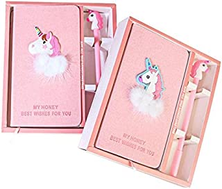 Teens Cartoon Unicorn 2 in 1 Notebook with Box Gift Set Girl Heart Stationery Gifts Notebooks & Writing Pads Study School ...