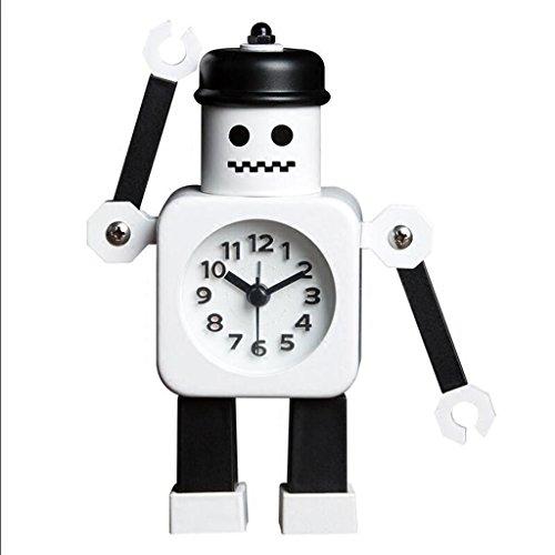 Cartoon Robot Creatieve Alarm Klok Persoonlijkheid Mute Alarm Klok Student Nachtkastje Leuke Alarm Klok