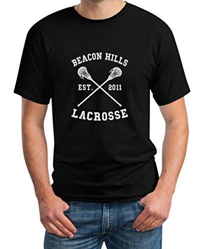 Teen Beacon Hills Lacrosse Wolf Schwarz Medium T-Shirt