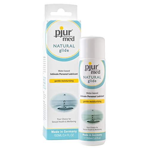 pjur med NATURAL glide - Medizinisches Gleitgel auf Wasserbasis - mit pflanzlichem Glycerin - Schutz für sensible Haut (100ml)
