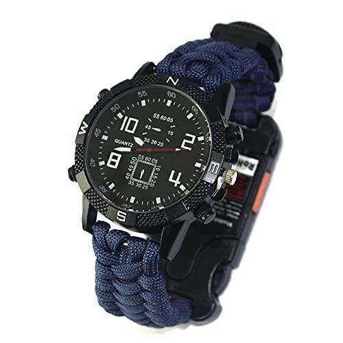 WTYU Reloj Militar Táctico, Reloj De Supervivencia De Emergencia, Reloj De Escalada De La Brújula De La Supervivencia Foutdoor F
