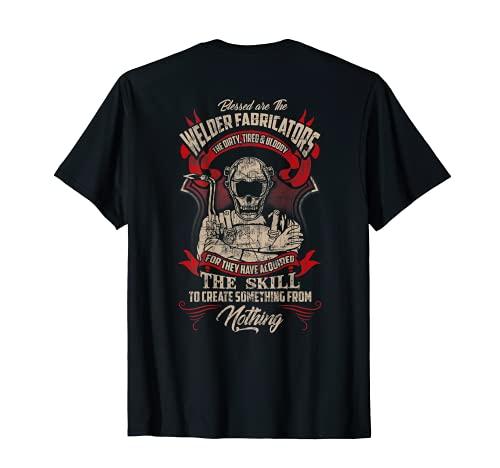 WELDER FABRICATORS Funny Welders Welding Backside T-Shirt
