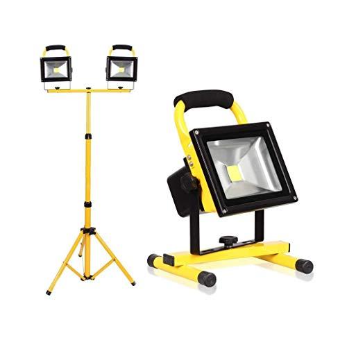 HUIYAN Focos led Exterior Luz De Trabajo LED De 30 W con Trípode Ajustable | Proyector Giratorio De 360 ° A Prueba De Agua IP 65 para Iluminación De Seguridad De Garaje De Carretera