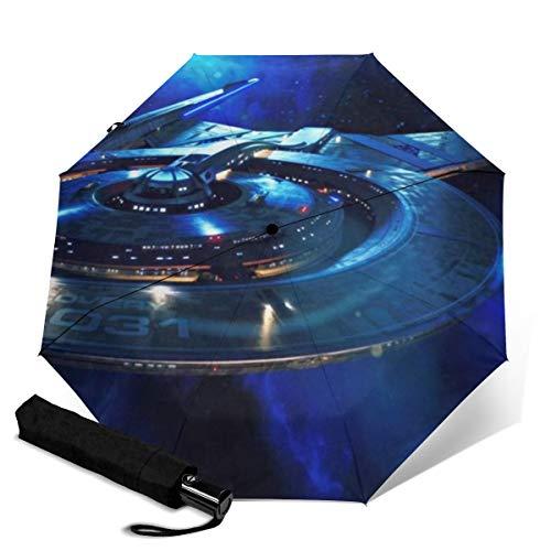 Star Trek Automatischer Dreifach Faltschirm Unisex Bedruckter Regenschirm Manueller Regenschirm Tragbarer Regenschirm