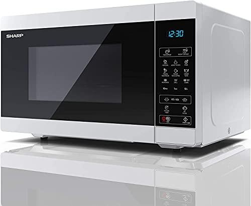 Dagea Forno Microonde 900W 25L con Grill Controllo Elettronico 11 Livelli di Potenza Nero,Bianca,20 litrów