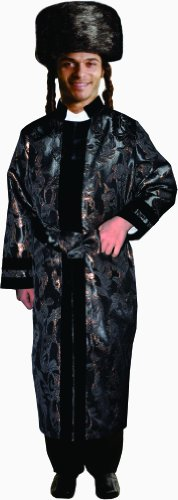 Dress Up America Erwachsener schwarzer Rabbi Coat