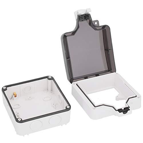 LANTRO JS - Caja de enchufe de protección para exteriores IP66 Caja de cubierta de salida impermeable