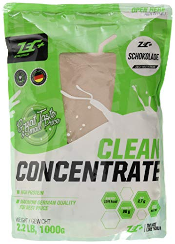 ZEC+ Clean Concentrate – 1000 g, Molkenprotein Whey Pulver, Geschmack Schokolade