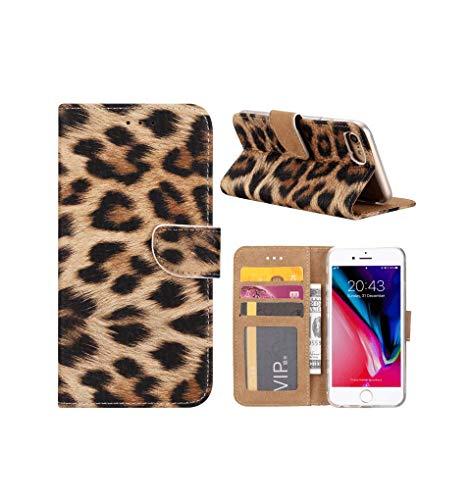 FONU Bookcase Hoesje Luipaard iPhone 8 Plus / 7 Plus