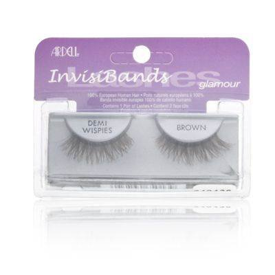 ARDELL False Eyelashes - Invisibands DEMI Wispies Brown