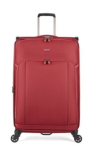 Antler Atmosphere, Durable & Expandable Lightweight Soft Shell Suitcase - Colour: Dark Red, Size: Large