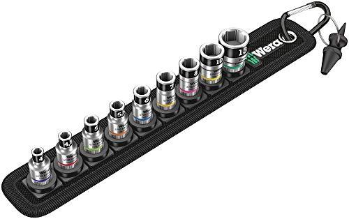 """Wera 05003880001 Belt A 1 Zyklop Steckschlüsseleinsatz-Satz, mit Haltefunktion, 1/4""""-Antrieb, 10-teilig"""